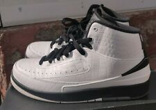 Nike Youth Air Jordan 2 Retro Bg 'Wing It' Shoes-Blk/White Youth size 7