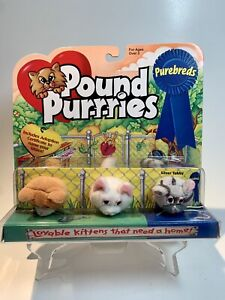 Vintage Pound Purries Purebreds Mini Lot Of 3 (unopened) Silver Tabby + Kittens