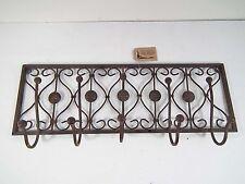 Garderobenhaken Küchenhaken Garderobe  5er   Metall Eisen dunkelrostfarben