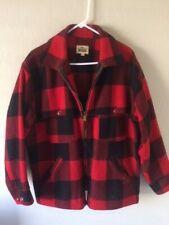 Vtg Woolrich Men's 44 Buffalo Plaid Wool Blend Mackinaw Chore Field Coat Jacket