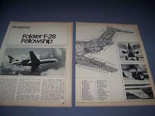 VINTAGE..FOKKER F28..CUTAWAY..RARE! (181C)