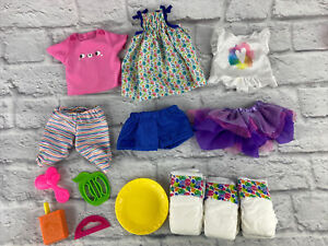 Baby Alive Outfits Diapers 2017 Lot Clothes Tutu Dress Shorts Pant Snackin Parts