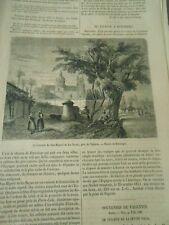 De Valence à Murviedro le couvent de san Miguel de Los Reyes Gravure Print 1858