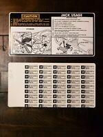 1969 1970 1971 Mopar NOS Quality Six Way Seat Instruction Card  Factory EXACT