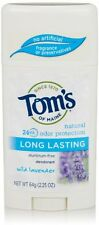 3 Pack Tom's of Maine Natural Long-Lasting Deodorant Stick Lavender 2.25 oz Each
