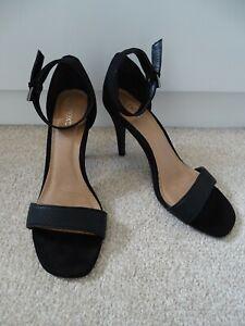 Ladies Next Black Heeled Sandals Size EU 37 UK 4