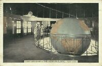 Lobby And Globe in The News Building Interior Lumitone 1938 NYC Postcard