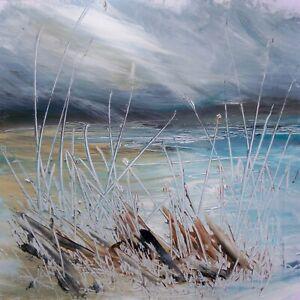 Semi Abstract Coastal / Landscape Art. Original Acrylic Painting.