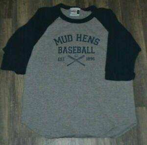 Toledo Mud Hens Minor League Baseball Raglan Jersey Shirt Small OH Tigers Nice