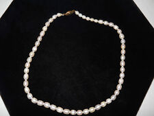 "Freshwater Pearl Choker Style Necklace 16"" Yellow Gold Plated New In Gift Bag"