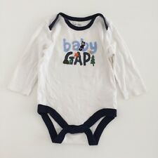 Baby Boys GAP White Christmas Themed Bodysuit Size 3-6 Months