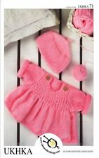 Baby DK Double Knitting Pattern Childrens Flared Sweater Jumper Hat UKHKA 71