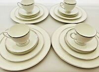 Waterford Kilbarry Platinum Service for 4, 20 Pieces 5 Piece Place Settings New