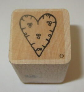 Heart Dots Berries Rubber Stamp Close To My Heart Love Wood Mounted Romance #2
