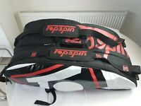 Topspin 12 x Tennis Racket Bag with Insulated Compartment VGC
