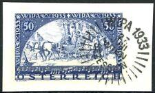Austria 1933 Wipa Issue on Paper Wipa Cancel Scott's B110 Well-Centered