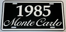 1985 85 MONTE CARLO METAL LICENSE PLATE 350 400 454 SS LOWRIDER NASCAR CHEVY