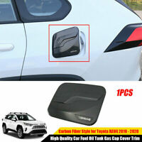 For 2019 2020 Toyota RAV4 Car Fuel Oil Tank Gas Cap Cover Trim ABS Carbon Fiber