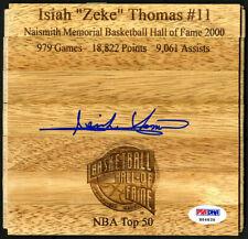 Isiah Zeke Thomas SIGNED Floorboard Detroit Pistons Top 50 PSA/DNA AUTOGRAPHED
