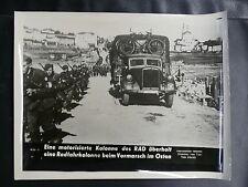 PHOTO 1939/45 : EINE MOTORISIERTE RAD KOLONNE IM OSTEN - FOTO ATLANTIC