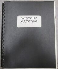 """Wiseguy Fanzine """"Wiseguy Material"""" Collection of Character Profiles History"""