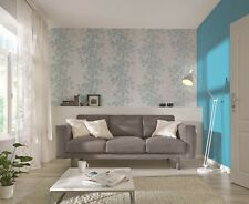 "2,25 €/qm / ""Home Vision VII"" / Rasch 730258 / Vliestapete Blume-Ranke Türkis"