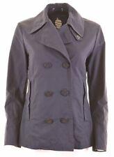 MARINA YACHTING Womens Double Breasted Jacket IT 46 Large Navy Blue Nylon  GP08