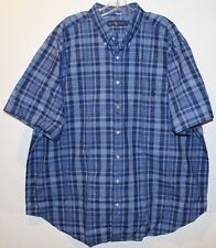 Polo Ralph Lauren Big and Tall Mens Blue Plaid S/S Button-Front Shirt NWT 2XLT