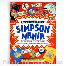 THE SIMPSONS~1990 Simpson Mania: History of TV's First Family~Consumer Guide~NEW