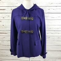 Carlisle Women Hoodie Jacket Purple Wool Blend Size 12