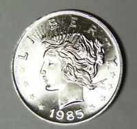 1985 Peace Silver Dollar Style 1 oz .999 Fine Silver Round (92118)