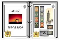 Album de timbres à imprimer  MAROC av indépendance