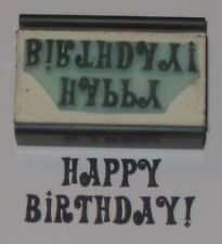 Happy Birthday! rubber stamp by Amazing Arts