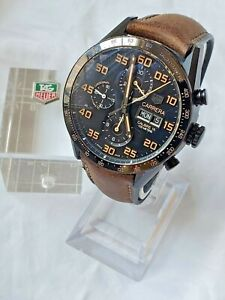 TAG Heuer Carrera Men's Watch - CV2A84.FC6394 w/New Strap and Clasp FULL SET