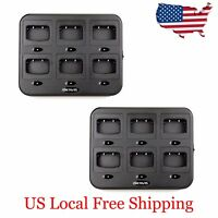 Retevis 6-Way Charger+Adapter for H777 Baofeng 888S Walkie Talkie Radios US 2PCS