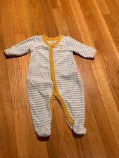 Euc Baby Gap Cozy Unisex Striped Velour Sleeper 0-3 months