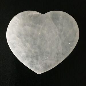 Selenite Heart Slice -Average Diameter Size : 100 mm  Ave Thickness 10-15 mm: