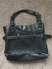 Large Black Woven Shoulder/shopper/tote Bag