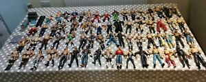 Bundle x65 WWE WWF Wrestlers plus accessories. Jakks, WCW, Mattel 1997-2013 Used