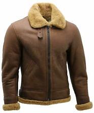 Mens B3 Shearling Sheepskin WW 2 Bomber Leather Flying Aviator Jacket