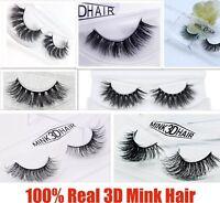 💙3D Mink Natural Thick False Fake Eyelashes handmade Lashes Makeup Extension💙