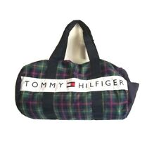 Tommy Hilfiger Plaid Duffel Bag with Inside Pockets, Zipper Pocket 1 Outside NEW