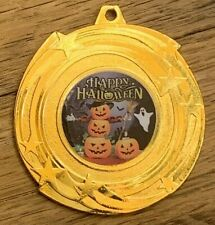 Halloween Party Medal & Ribbon Engraved Best Fancy Dress Costume Party Pumpkins