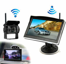 5'' Wireless 12v 24v Truck Caravan Boat Monitor Reversing Camera Rear View Kit