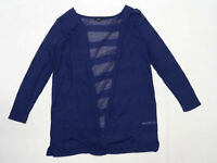Next Womens Size 20 Textured Blue Cardigan (Regular)