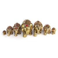 7Pcs Feng Shui Elephant Trunk Statue Lucky Figurine Christmas Gift Home Decor