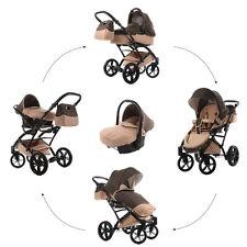 Knorr Baby Voletto Set 3in1 Kombi-Kinderwagen Set Sahara mit Autositz 3312-3