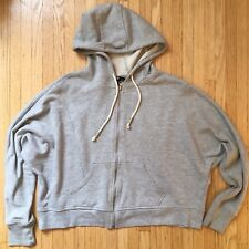 H&M Women's Batwing Full Zip-up Hoodie. Sz Small $24.00 Gray Pre-owned