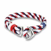 Anchor Bracelets Men Charm Nautical Survival Rope Chain Paracord Bracelet Male