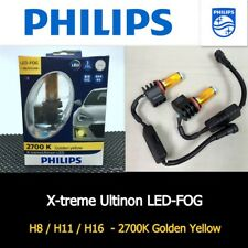 Genuine PHILIPS H8 H11 H16 LED FOG 2700K Yellow Lamp Light Bulb x 2 #AGN